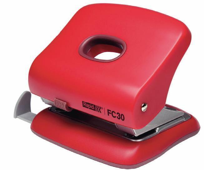 Perforator plastic RAPID FC30, 30 coli - rosu 0