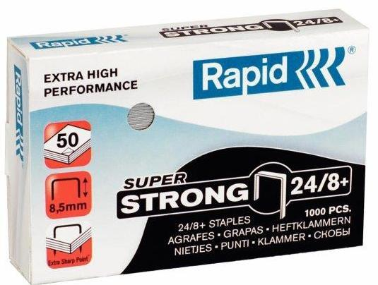 Capse RAPID Super Strong 24/8+, 1000 buc/cutie 0