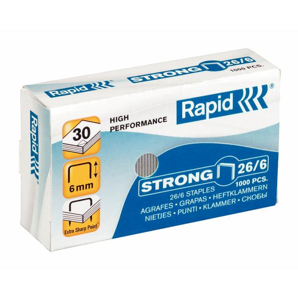 Capse RAPID Strong 26/6, 1000 buc/cutie 0