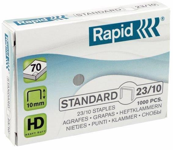 Capse RAPID Standard 23/10, 1000 buc/cutie - pentru 40-70 coli [2]