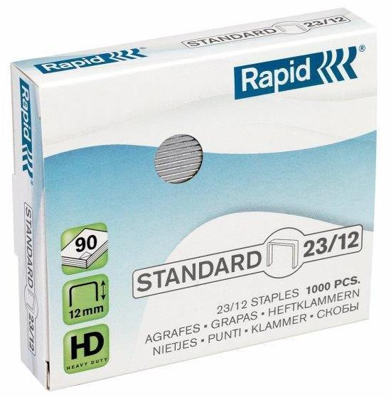 Capse RAPID Standard 23/12, 1000 buc/cutie - pentru 60-90 coli 0