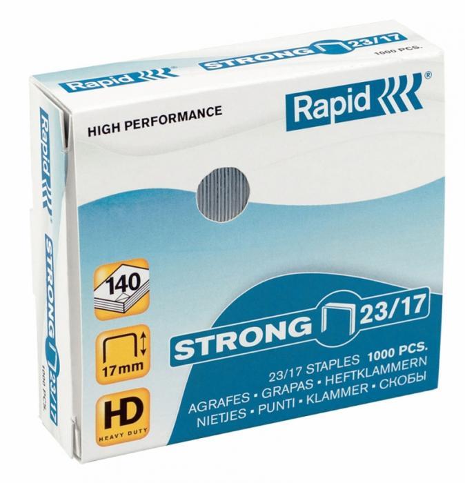 Capse RAPID Strong 23/12, 1000 buc/cutie - pentru 60-90 coli 1