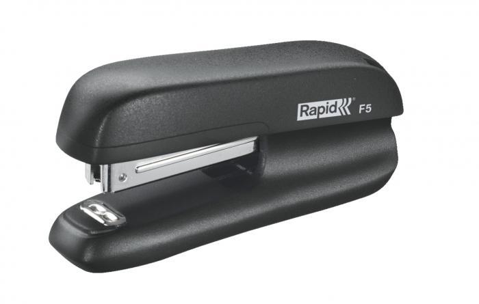 Mini-capsator plastic RAPID F5, 10 coli - negru 0
