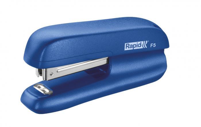 Mini-capsator plastic RAPID F5, 10 coli - albastru [2]