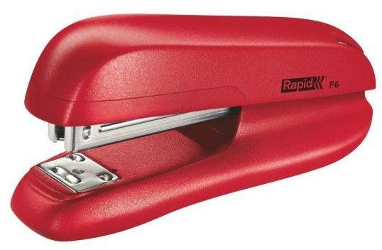 Capsator plastic RAPID F6, 20 coli - rosu 1