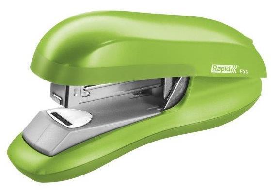 Capsator plastic RAPID F30, 30 coli, capsare plata - verde deschis 0