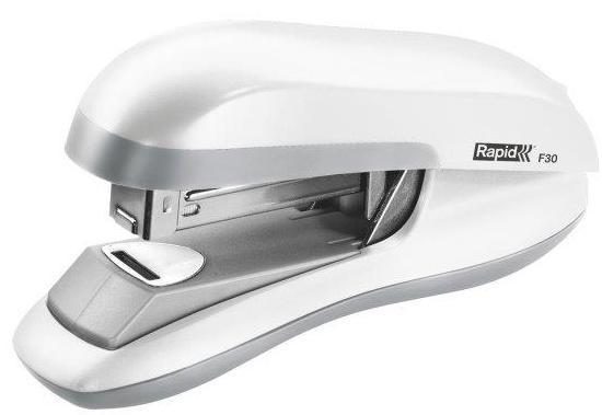 Capsator plastic RAPID F30, 30 coli, capsare plata - alb [0]