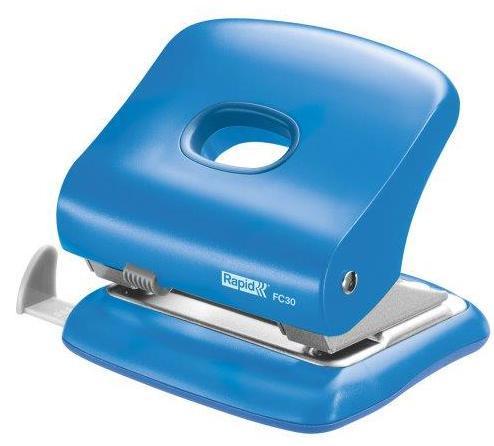 Perforator plastic RAPID FC30, 30 coli - albastru deschis [3]