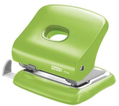 Perforator plastic RAPID FC30, 30 coli - verde deschis 0