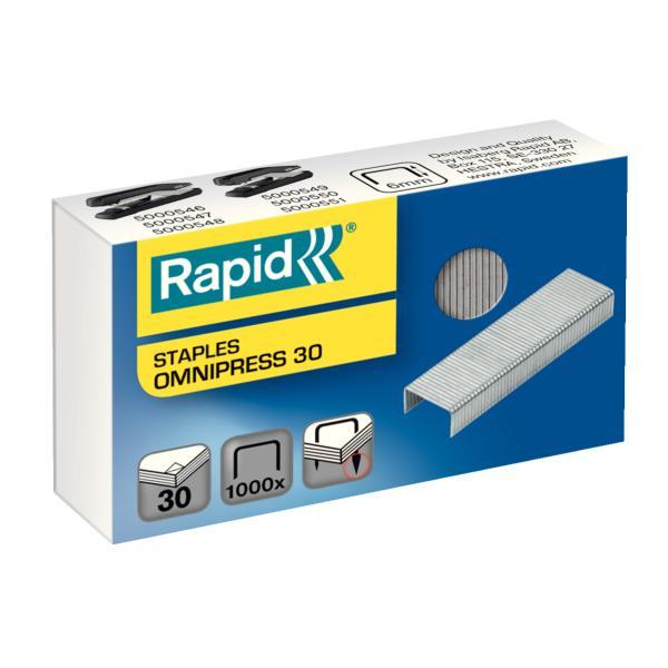 Capse RAPID Omnipress 30 coli, 1.000 buc./cutie 0