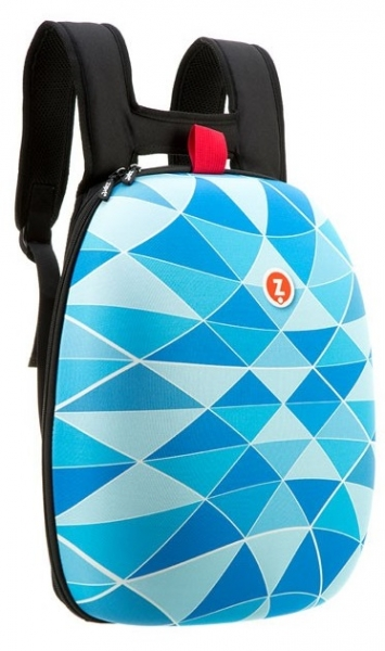 Rucsac ZIPIT Shell - triunghiuri albastre - EAN 7290106145900 [4]