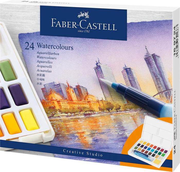 Acuarele 24 Culori Creative Studio Faber-Castell 0