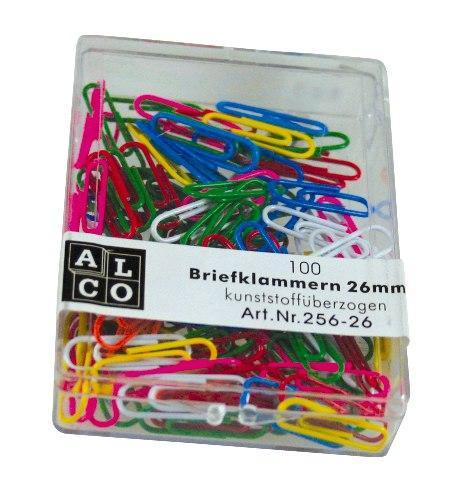Agrafe colorate 26 mm, 100/cutie, ALCO - asortate 1