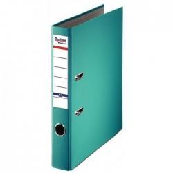 Biblioraft A4, plastifiat PP/paper, margine metalica, 50 mm, Optima Basic - turqoise 0