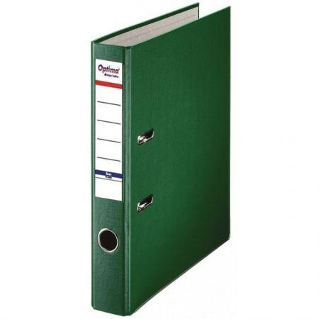 Biblioraft A4, plastifiat PP/paper, margine metalica, 50 mm, Optima Basic - verde [0]