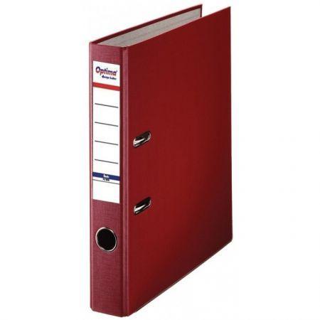Biblioraft A4, plastifiat PP/paper, margine metalica, 50 mm, Optima Basic - visiniu [0]