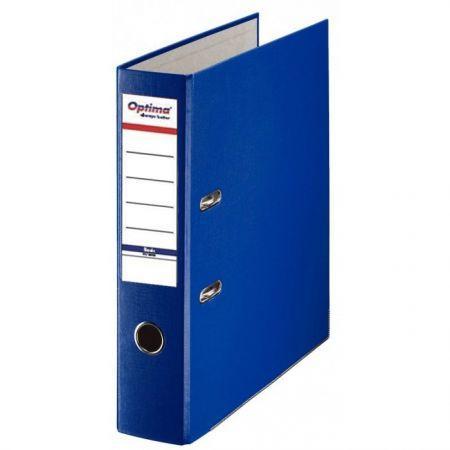 Biblioraft A4, plastifiat PP/paper, margine metalica, 75 mm, Optima Basic - bleumarin [0]