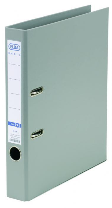 Biblioraft A4, plastifiat PP/PP, margine metalica, 50 mm, ELBA Smart Pro+ - gri [0]