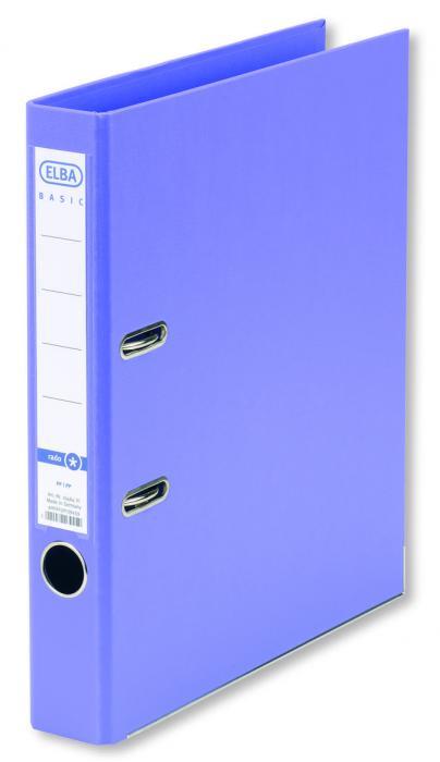 Biblioraft A4, plastifiat PP/PP, margine metalica, 50 mm, ELBA Smart Pro+ - violet [0]
