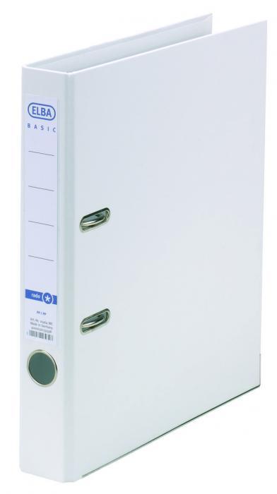 Biblioraft A4, plastifiat PP/PP, margine metalica, 50 mm, ELBA Smart Pro+ - alb [0]