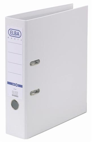 Biblioraft A4, plastifiat PP/PP, margine metalica, 80 mm, ELBA Smart Pro+ - alb [0]