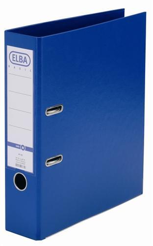 Biblioraft A4, plastifiat PP/PP, margine metalica, 80 mm, ELBA Smart Pro+ - albastru [0]