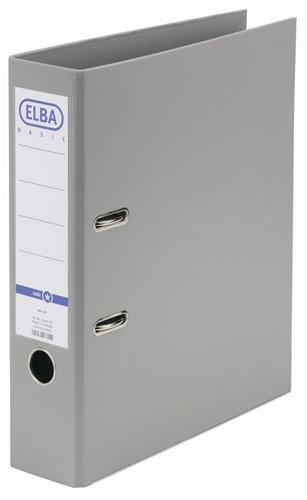 Biblioraft A4, plastifiat PP/PP, margine metalica, 80 mm, ELBA Smart Pro+ - gri [0]