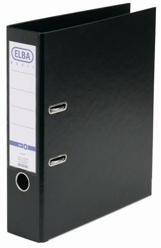 Biblioraft A4, plastifiat PP/PP, margine metalica, 80 mm, ELBA Smart Pro+ - negru [0]