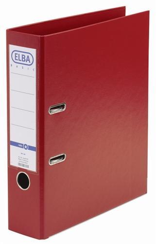 Biblioraft A4, plastifiat PP/PP, margine metalica, 80 mm, ELBA Smart Pro+ - rosu [0]