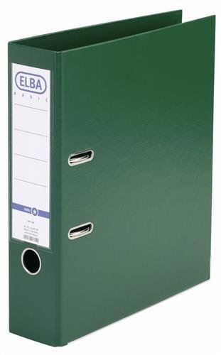 Biblioraft A4, plastifiat PP/PP, margine metalica, 80 mm, ELBA Smart Pro+ - verde [0]