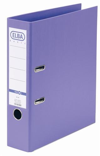 Biblioraft A4, plastifiat PP/PP, margine metalica, 80 mm, ELBA Smart Pro+ - violet 0