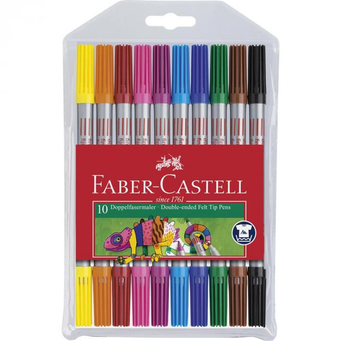 Carioca 10 Culori 2 Capete Faber-Castell 0