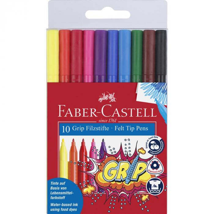 Carioca Grip Faber-Castell, 20 culori in etui plastic 1