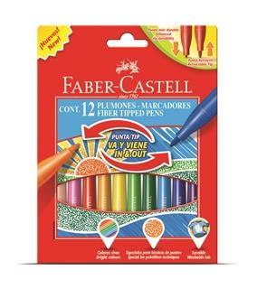 Carioci Cu Varf Retractabil Faber-Castell - 12 culori 0