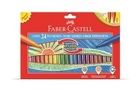 Carioci Cu Varf Retractabil Faber-Castell - 24 culori 0