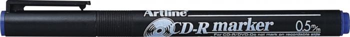CD/DVD-marker ARTLINE 883, corp plastic, varf rotund 0.5mm - albastru [0]