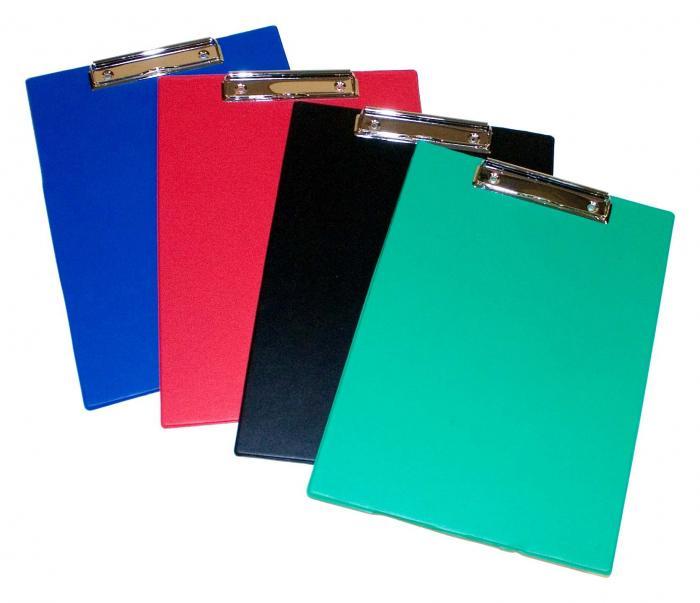 Clipboard simplu, plastifiat PVC, AURORA - negru 0