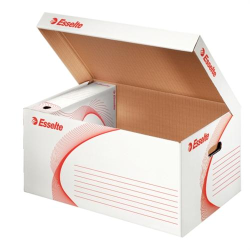 Container arhivare ESSELTE Standard, deschidere superioara - alb 0