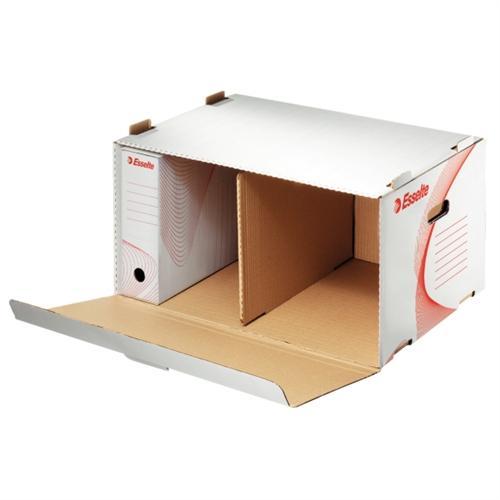 Container arhivare ESSELTE Standard, deschidere laterala - alb 0
