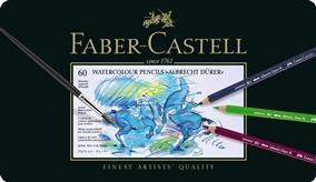 Creioane Colorate Acuarela A.Durer Faber-Castell, 60 culori, cutie metal 1