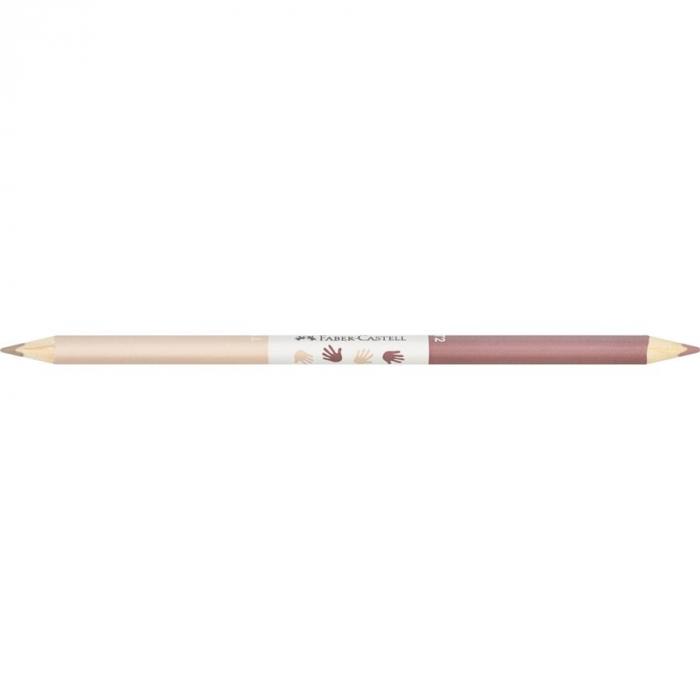 Creioane Colorate Children Of The World Faber-Castell, 24 culori + 3 creioane bicolore tonuri in culoarea pielii 3