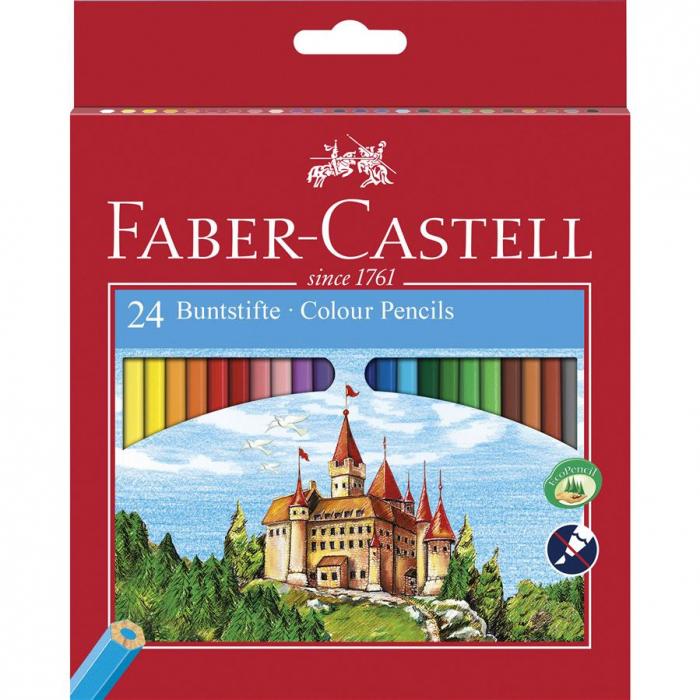 Creioane Colorate Eco Faber-Castell, 6 culori 3