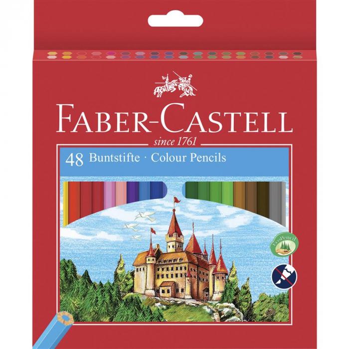 Creioane Colorate Eco Faber-Castell, 6 culori 1