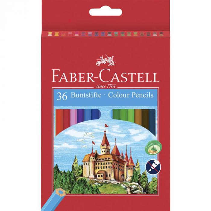 Creioane Colorate Eco Faber-Castell, 6 culori 2