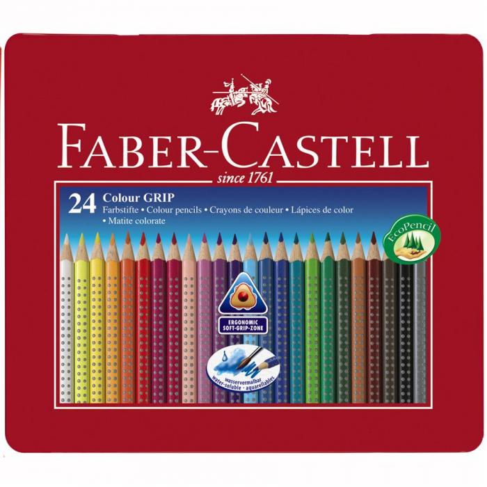 Creioane Colorate Grip 2001 Faber-Castell, 12 culori in cutie carton [2]