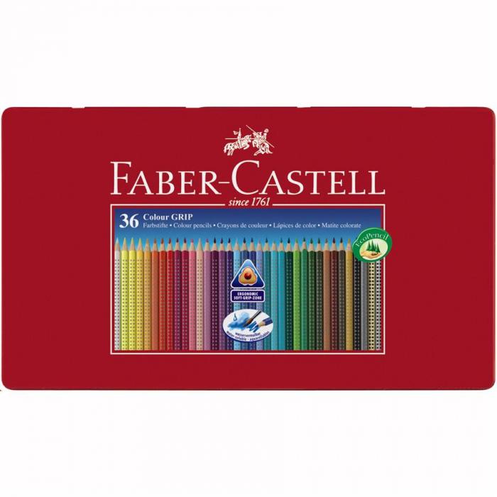 Creioane Colorate Grip 2001 Faber-Castell, 12 culori in cutie carton [4]