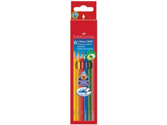 Creioane Colorate Grip 2001 Faber-Castell - 6 culori / cutie carton 0