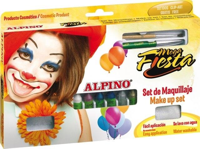 Creioane machiaj 5gr., 12 culori/cutie, ALPINO Mega Fiesta 0