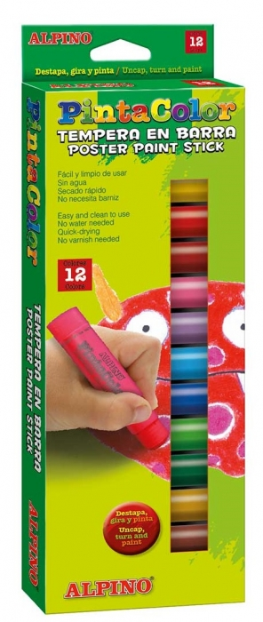 Creioane Tempera 12 culori/cutie, ALPINO PintaColor 0