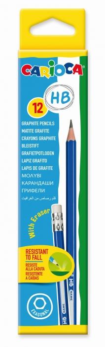 Creion CARIOCA, duritate HB, cu radiera 0